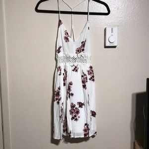 White and Floral Forever21 Dress